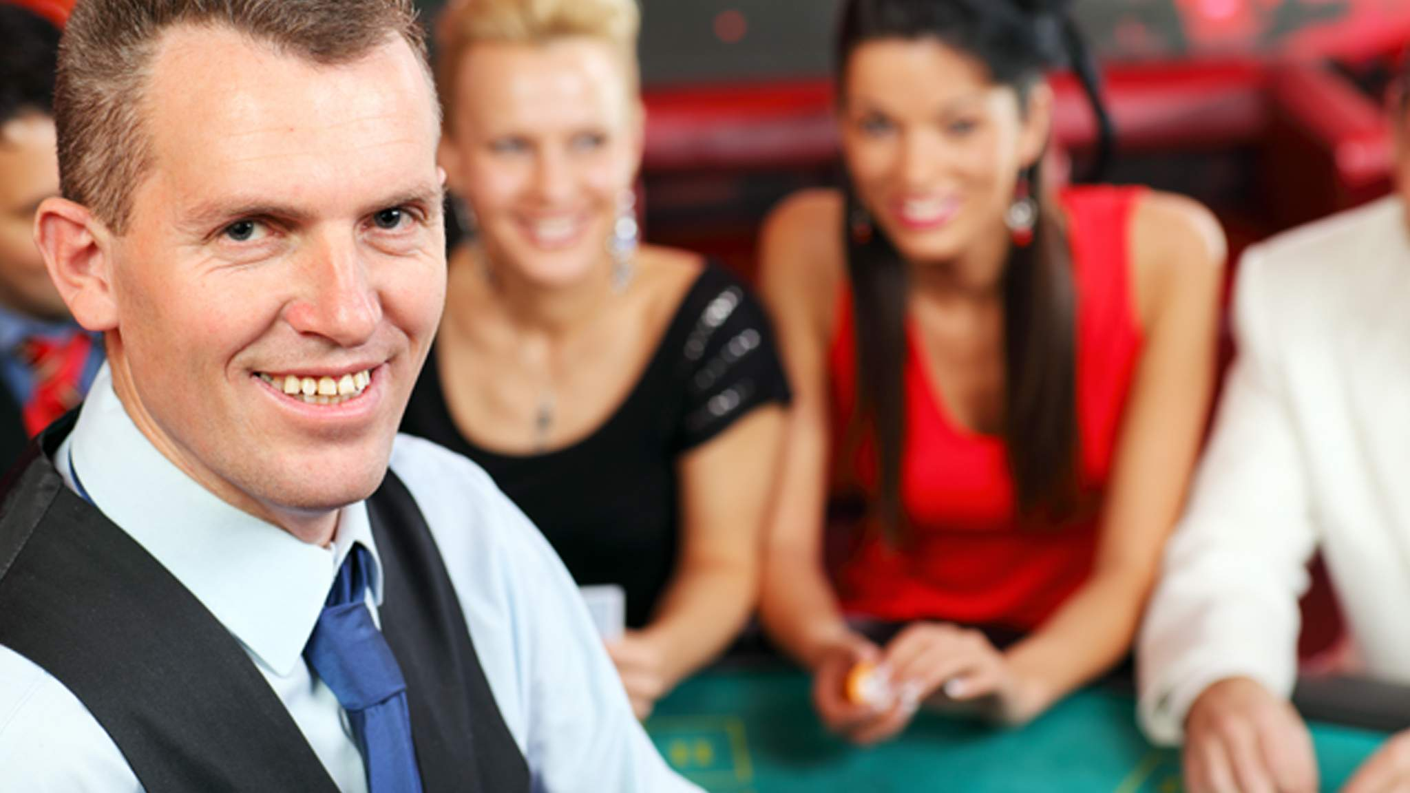 Casino Worker at a gaming table
