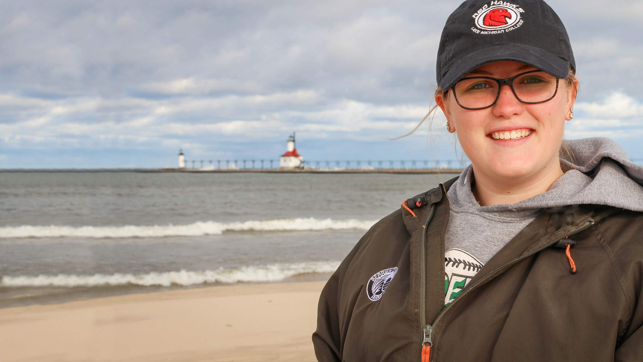 Student at Silver Beach in Saint Joseph Michigan