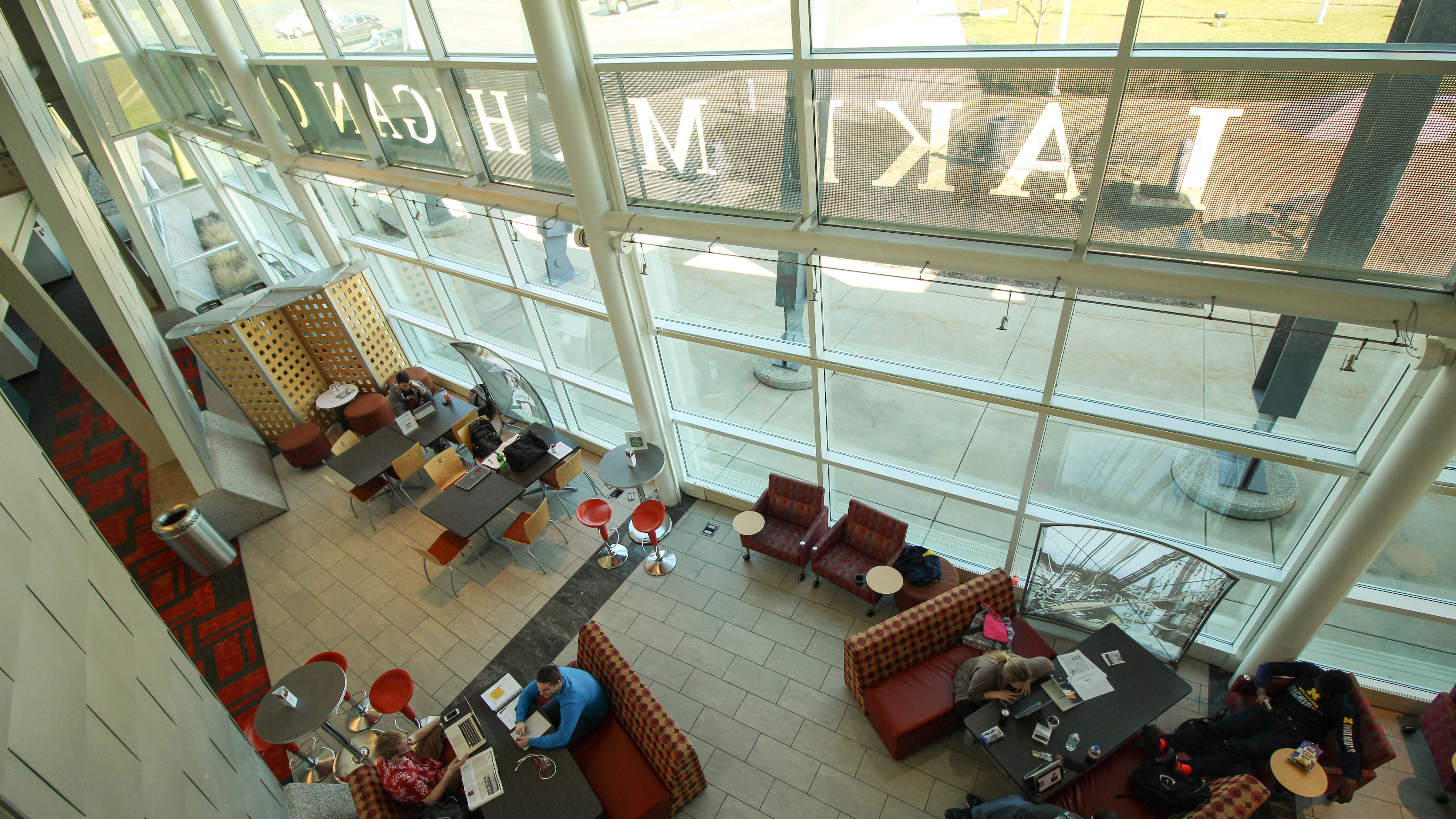 Inside the South Haven Campus lobby