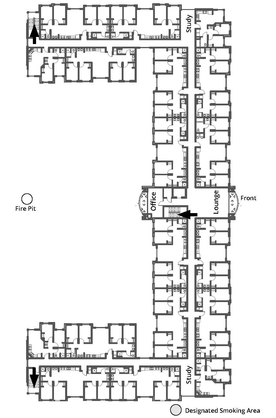 Beckwith Hall third floor plan