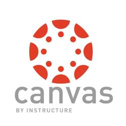 Canvas logo and link