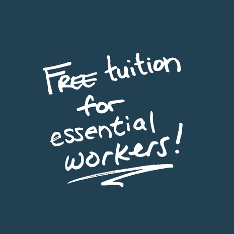 Free tuition for essential workers!