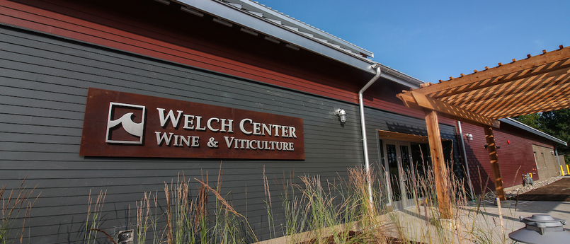Entrance to the Lake Michigan College Welch Center for Wine and Viticulture.