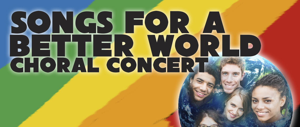 Songs for a Better World rainbow graphic