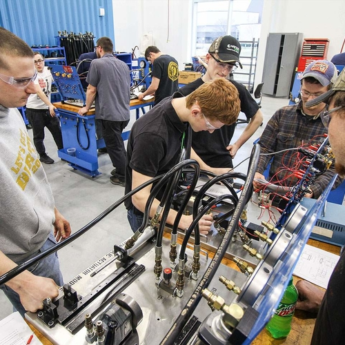 Energy Production Students in Class at Hanson Technology Center